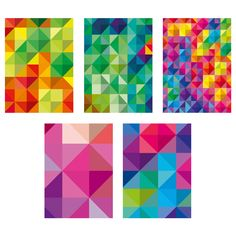 KORT Art card | Ikea created by Tom Frazier $2.00/5 pack I love the middle green and blue geometric patterns.
