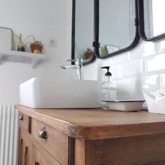 De Emilie Dans Notre Salle Bain Suite Salledebain Sdb Boncoin Brocante Decovintage Bathroom Miroir Deco Homedecor Hometour Castorama