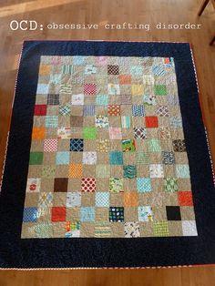 "Hockey quilt ""front""  by Kristie at OCD, via Flickr"