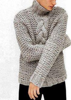 Men's hand knitted turtleneck sweater,cardigan men clothing wool handmade men's knitting aran cabled crewneck