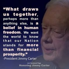 Reminding us that America is about EVERYONE's freedom! Jimmy Carter, Let Freedom Ring, Be A Nice Human, Presidents, National Treasure, America, Usa