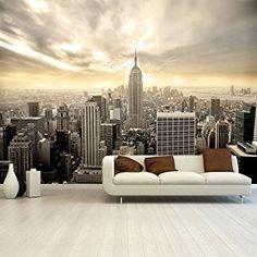Fototapete Shining Manhattan 366x254 Cm Tapete Skyline USA New York  Deco.deals, Kleisterbürste /