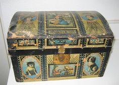 antique doll show   | Antique Bliss paper litho doll trunk For Sale | Antiques.com ...