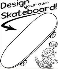 Printable Design Your Own Skateboard Coloring Page Ashton S 5th
