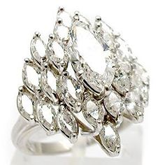 vintage marquise diamond cluster cocktail ring solid platinum