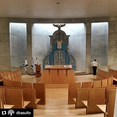 The Synagogue at Yad Vashem, designed by architect Moshe Safdie and the interior design firm Tamuz. Thirty-one distinct items are on display, including four Torah Arks, and various other Judaica from throughout Europe.