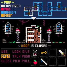 """"""" version of the Graphic Adventure in . What you think? Retro Video Games, Video Game Art, How To Pixel Art, Computer Generated Imagery, Pixel Art Games, Pixel Design, Isometric Design, Game Design, Robot Design"""
