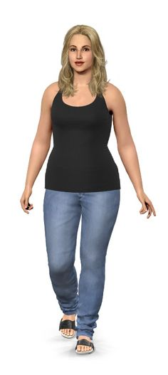 Weight Loss Simulator: type in your current height/weight, then your goal weight, and model images show the difference.