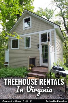 Treehouse Rentals Near Beach Spots Or Richmond. Look up to the tops of the trees and channel your best Swiss Family Robinson in a vacation rental treehouse in Virginia. Forget about renting rustic cabins on the forest floor. Some Of The Best Ideas For Traveling With Kids. 7 Incredible Treehouses For A Virginia Glamping Staycation.