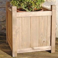 Gardening Thyme Large Square Wooden Planter