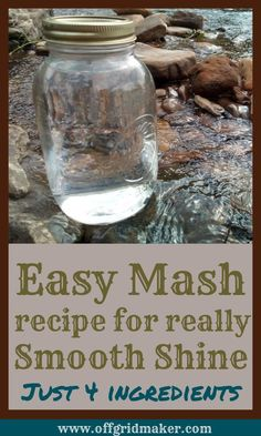 A really simple mash recipe that produces the smoothest whiskey