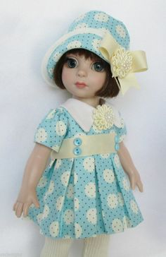 """PATSY'S """"GONE DOTTY"""" FOR SPRING! FOR 10"""" ANN ESTELLE, ETC. MADE BY SSDESIGNS"""