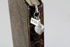 Bookmark - Book Mark - Metal Bookmark - Good Luck Charm - Wish Jewelry - Unique Bookmark - Book Accessories - Book Lover - Real Dandelion