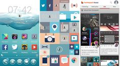 Proving a massive repository of user-created homescreens, Buzz Launcher gives the user a wide range of choices as to the overall look he wants to use for his smartphone's home screen.