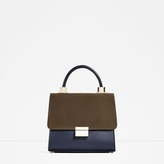 Image 2 of MINI CITY BAG WITH SPLIT SUEDE FLAP from Zara