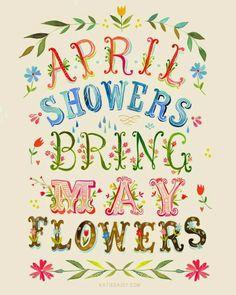 Nisan yağmurlarıdır Mayıs çiçeklerini bize getiren