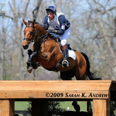 William Fox-Pitt and Seacookie at Rolex 2009 by Rock and Racehorses, via Flickr, crossed front legs. :-)
