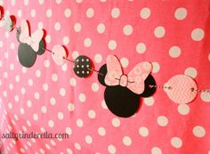 Salty Cinderella: Minnie Bow-tique Birthday Party, Minnie Mouse banner