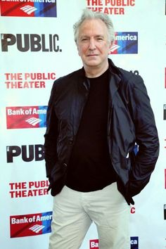 Alan Rickman, The Public Theater's Annual Gala at Delacorte Theater (June 9, 2015 in New York City).