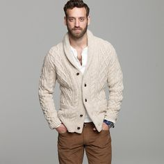 wantering: J. Crew Donegal Wool Cable Cardigan
