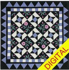 Twilight Posies Digital Quilt Pattern