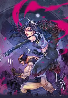 WOLVERINE and X-23 by Andrea Jen