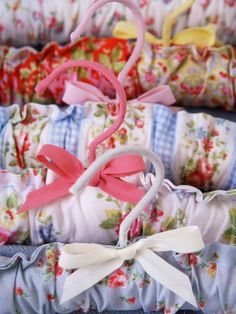 Pretty coat hangers from 'Sew' by Cath Kidston