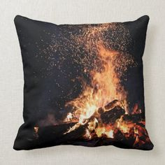 Bonfire at Night in Camp Throw Pillow #animals #food #drink camping hacks, camping gadgets, camping equipment, back to school, aesthetic wallpaper, y2k fashion Camping Coffee, Diy Camping, Camping Ideas, Custom Pillows, Decorative Throw Pillows, Camping In The Woods, Animal Skulls, Succulents Diy, Travel Gifts