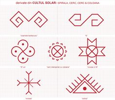 Oamenii de pe aici au conceput, demult de tot, un fel unic de a fi iar credintele lor nu au putut fi oprite sau deturnate spre alte concepte... Folk Embroidery, Embroidery Patterns, Cross Stitch Patterns, Floral Embroidery, Old Symbols, Ancient Symbols, Doodle Sketch, Symbolic Tattoos, Traditional Art