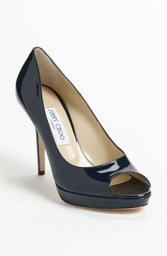 Pretty in black! Jimmy Choo 'Luna' Peep Toe Platform Pump available at #Nordstrom