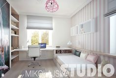 dziewczęcy pokój w delikatnych odcieniach różu - zdjęcie od MIKOŁAJSKAstudio - Pokój dziecka - Styl Industrialny - MIKOŁAJSKAstudio