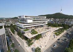 Seoul Metropolitan Office of Education – NORTHPOINT Miami Architecture, Cultural Architecture, Commercial Architecture, Concept Architecture, Amazing Architecture, Contemporary Architecture, Landscape Architecture, Architecture Design, Lofts
