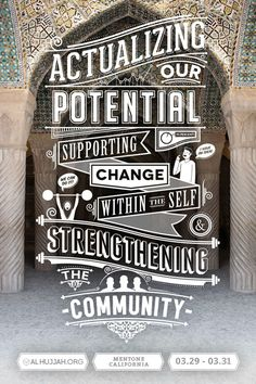Community Typography design inspiration
