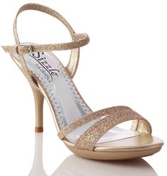 "Nude Coloriffics Sizzle Vail Bridal Shoes $49.99 ""Beautiful glittered strappy sandals with platform front. The simple design of these sandals make them a perfect choice for any bridal party or bride. The 3 3/4"""" heel and 3/4"""" platform allow for a stylish and comfortable fit. http://www.bellissimabridalshoes.com/Nude-Coloriffics-Sizzle-Vail-Bridal-Shoes-Prodview.html"
