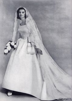 1963 wedding gown.