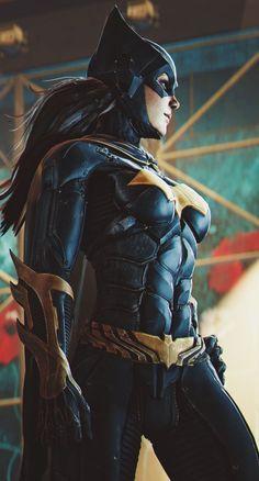 Batgirl's amazing design from Batman Arkham Knight Screencap by http://angryrabbitgmod.deviantart.com/