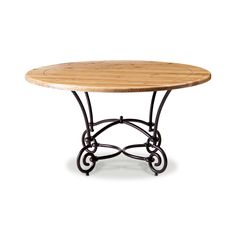 Mesa de jantar redonda c/ pe de ferro french bistro - 1,40x0,75 cm - CeciliaDale