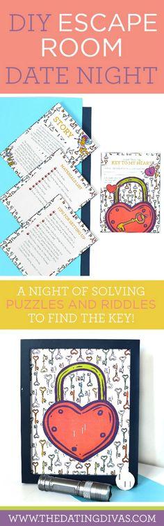 DIY Escape Room Date Night- AKA Panic Room. Such a creative and fun date night…