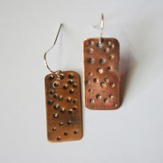 Copper Rectangle Earring 1