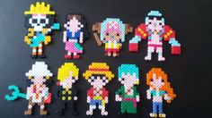 One Piece perler beads