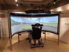 Elaborate Simulation Racing Setup