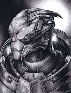 I've already uploaded this drawing. This is a commission for an etsy user. Another Garrus portrait Mass Effect Garrus, Mass Effect 1, Tomb Raider Cosplay, Halo Reach, Guy Pictures, Video Game Art, Borderlands, Portrait, Tomb Raiders