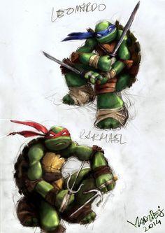 Leo and Raph PHASE III by WrozbitaMadziej.deviantart.com on @DeviantArt Ninga Turtles, Ninja Turtles Art, Teenage Mutant Ninja Turtles, Leonardo Tmnt, Turtle Love, Tmnt 2012, Comic Character, Cool Art, Original Art