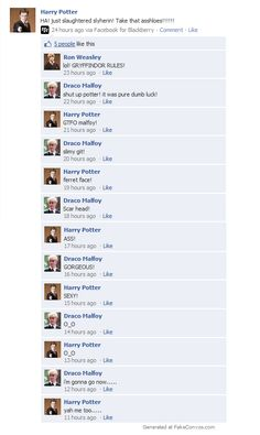 dramione facebook conversations - Google Search<<You mean DRARRY dumb ass!