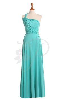 Bridesmaid Dress Infinity Dress Turquoise Floor by thepeppystudio