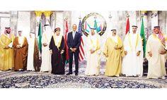FAMILY PHOTO: Custodian of the Two Holy Mosques King Salman and US President Barack Obama pose for a photo with (from left) Deputy Crown Prince Mohammed bin Salman, Bahrain's Crown Prince Salman bin Hamad Al-Khalifa, Kuwait's Emir Sheikh Sabah Al-Ahmad Al-Jaber Al-Sabah, Qatar's Emir Sheikh Tamim bin Hamad Al-Thani, Oman's Deputy Prime Minister Saeed Fahd bin Mahmud Al-Said, Bahrain's King Hamad bin Issa Al-Khalifa, Crown Prince of Abu Dhabi Sheikh Mohammed bin Zayed and Crown Prince…