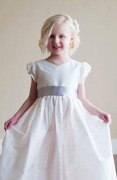 The Albion Dress Made to measure white silk flower by gillygray, $200.00
