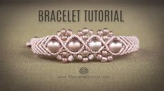 Wavy Macramé Flower Bracelet Tutorial by Macrame School. Wavy Macramé Flower Bracelet with Beads and Chevron Elements. Free Tutorial in Vintage Style by Macrame School. Please watch all Micro Macrame Bracelet Tutorials here: . Here you have a lot of Armband Tutorial, Macrame Bracelet Tutorial, Macrame Bracelets, Beads Tutorial, Diy Tutorial, Micro Macrame Tutorial, Jewelry Bracelets, Macrame Bag, Crochet Bracelet
