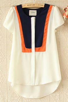 White Orange & Navy