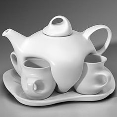 """Awesome!  """"This tea set is the same design as the one used on Star Trek, The Next Generation. Patrick Stewart used the Design II set in his portrayal of Captain Picard when entertaining company."""""""